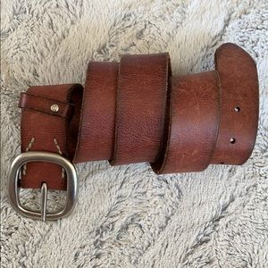 Red Leather AEO belt size M
